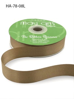 taupe brown double face satin ribbon