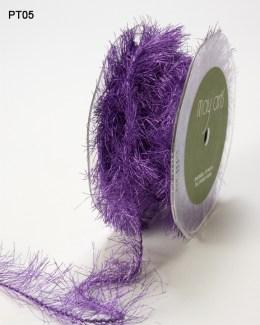Lavender METALLIC/EYELASH/WIRED Ribbon