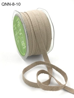 taupe natural twill cotton ribbon