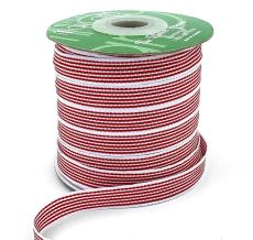 red and white striped grosgrain ribbon