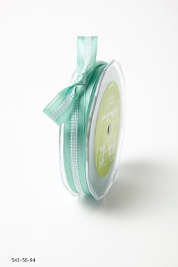 ROBIN'S EGG BLUE Solid with White Stitched Center Ribbon