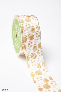 antique Gold Grosgrain w/ Print Ribbon
