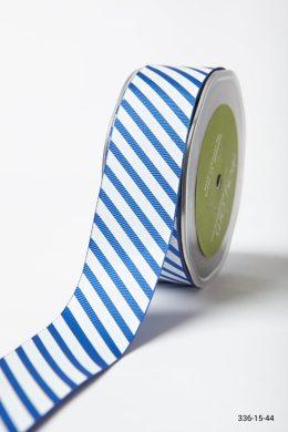 Royal Blue Grosgrain w/ Diagonal Stripes Print Ribbon