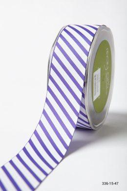 Purple Grosgrain w/ Diagonal Stripes Print Ribbon