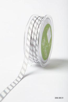 Grosgrain w/ Diagonal Stripes Print Ribbon