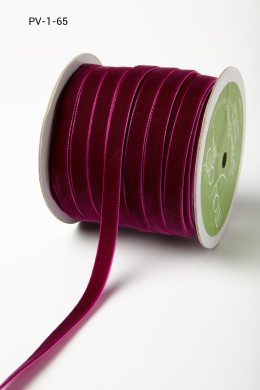 Plum Purple Velvet/Woven Ribbon