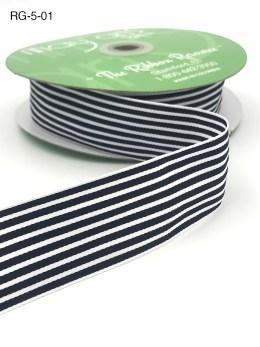 dark navy and white striped grosgrain ribbon