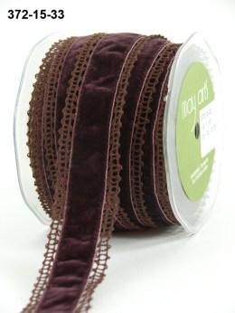 Variation #154446 of 1.5 Inch Crochet / Velvet Center Ribbon