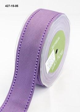 purple stitched edges lavender grosgrain ribbon
