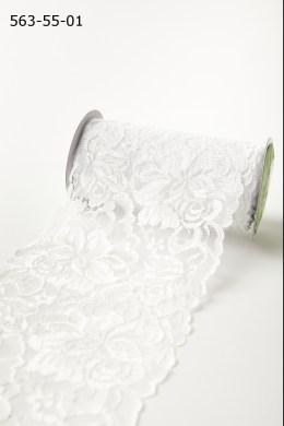 """5.5"""" wide White Lace Ribbon"""