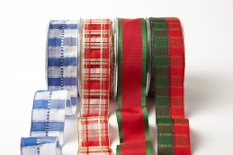 """1.5"""" Holiday Christmas Wired Ribbons"""