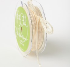 Woven Stitched Edge Ribbon Ivory