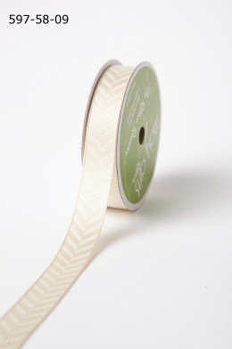 Ivory Woven Hidden Arrow Ribbon