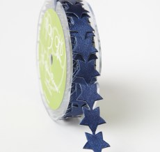 Adhesive Satin Stars Ribbon Navy