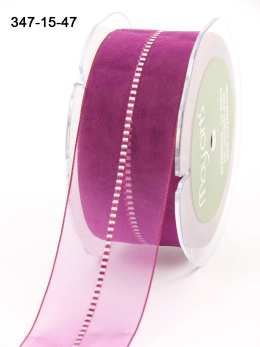 Variation #154161 of 1.5 Inch Sheer / Satin Stitched CTR Ribbon