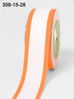Variation #154279 of 1.5 Inch White Grosgrain / Band Edge Ribbon
