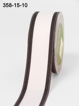 Variation #154275 of 1.5 Inch White Grosgrain / Band Edge Ribbon