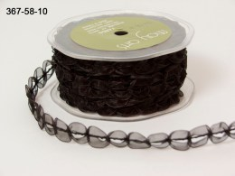 Variation #154362 of 5/8 Inch Sheer / Looped Trim Ribbon