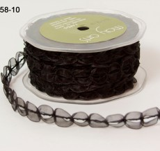 Variation #154362 of 5/8 Inch Sheer / Looped Trim Ribbon