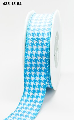 Variation #155157 of 1.5 Inch Woven Houndstooth / Nylon Edge Ribbon