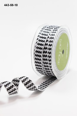 Variation #155215 of 5/8 Inch Woven Chevron Stripes / Wired Ribbon