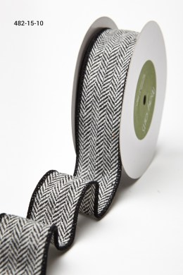 Variation #155683 of 1.5 Inch Woven Herringbone Ribbon / Wired