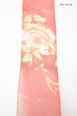 Variation #0 of 1.5 Inch Sheer Classic Floral Print
