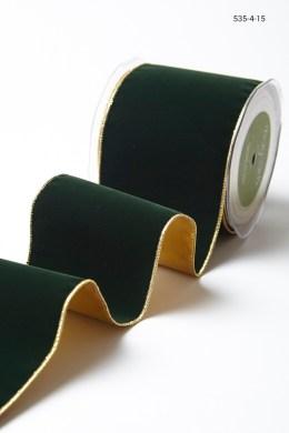Variation #156033 of 4 Inch Velvet Ribbon With Gold Backing