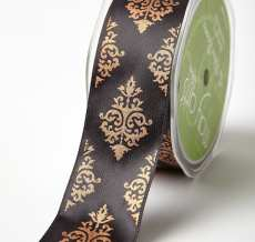 Variation #184715 of 1.5 Inch Single Faced Satin Damask Print Ribbon