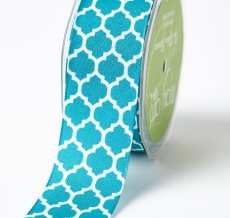 Variation #192080 of 1.5 Inch Linen Lattice Print Ribbon