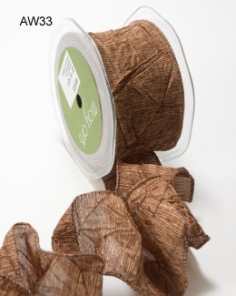Variation #148619 of 2 Inch Solid Crushed Wired Ribbon