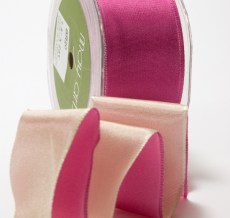 Two Color Reversible Double Faced Satin Ribbon