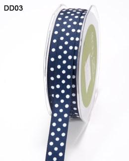 DD-8-03 - 5/8 Inch Grosgrain Dots Ribbon