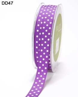 DD-8-47 5/8 Inch Grosgrain Dots Ribbon