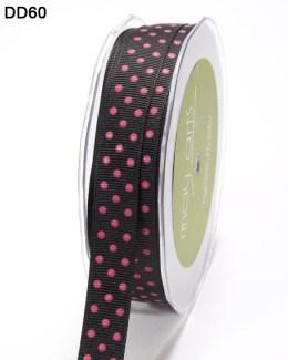 DD-8-60 - 5/8 Inch Grosgrain Dots Ribbon