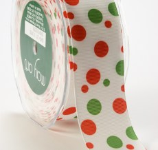 DD-5-45 1.5 Inch Grosgrain Dots Ribbon