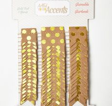 Variation #155757 of Paper Garland w/ Gold Foil Dots