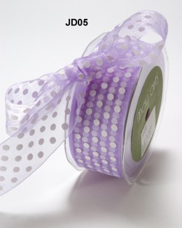Variation #150682 of 1.5 Inch Sheer Dots Ribbon