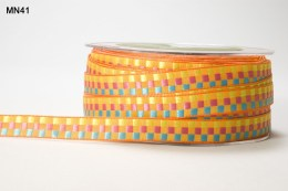 Variation #151408 of 3/8 Inch WOVEN CHECK Ribbon