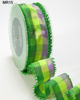 Variation #151479 of 1.5 Inch PLAID/LOOP EDGE/WIRED Ribbon