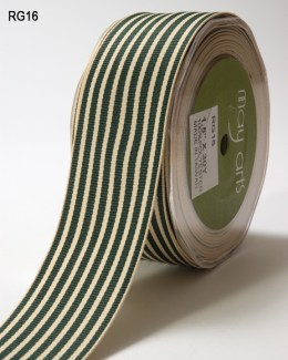 Variation #152317 of 1.5 Inch Grosgrain Ivory Striped Ribbon