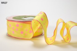 Variation #152494 of 1.5 Inch Solid Print Wired Ribbon