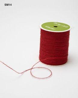 Red Burlap String Ribbon
