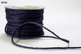 Navy Burlap Cord Ribbon