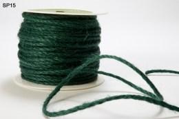 Green Burlap Cord Ribbon