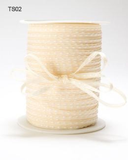 Champage Solid Stitched Center Ribbon