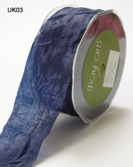 Navy Silky Crush Ribbon