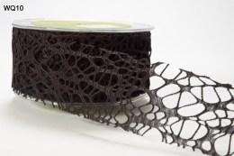 Black Webbed Weave Ribbon