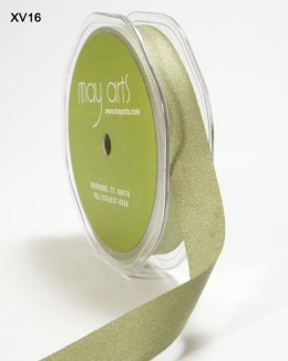 Olive Double Faced Faux Suede Ribbon