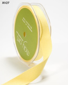 Yellow Double Faced Faux Suede Ribbon